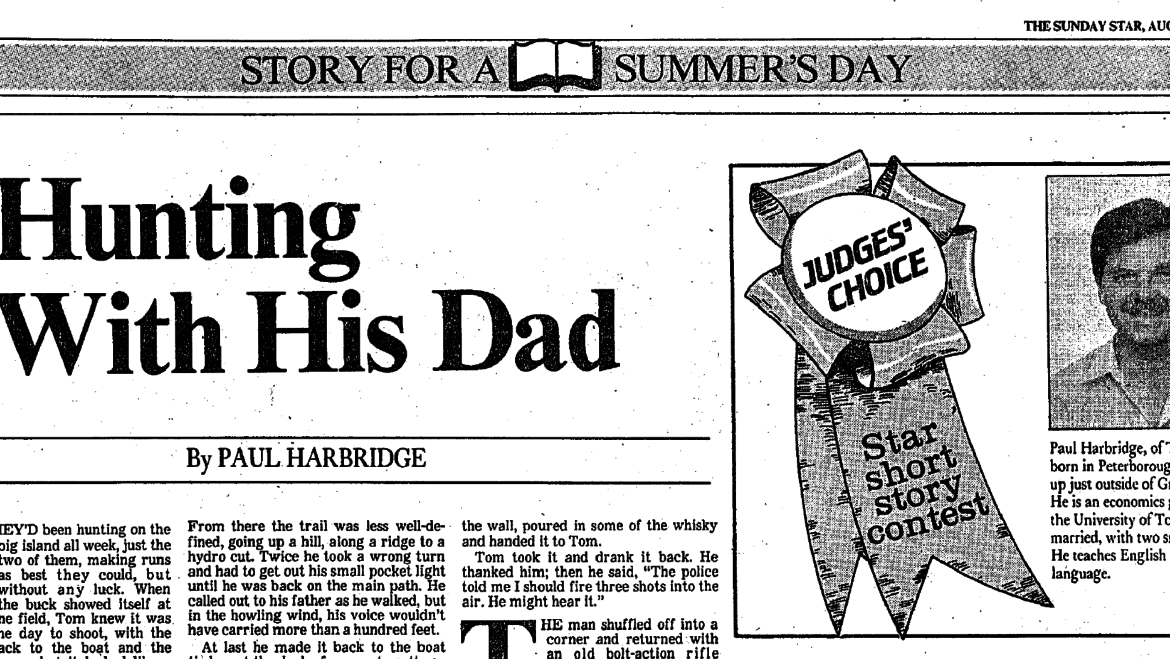 August 21, 1988: Hunting With His Dad