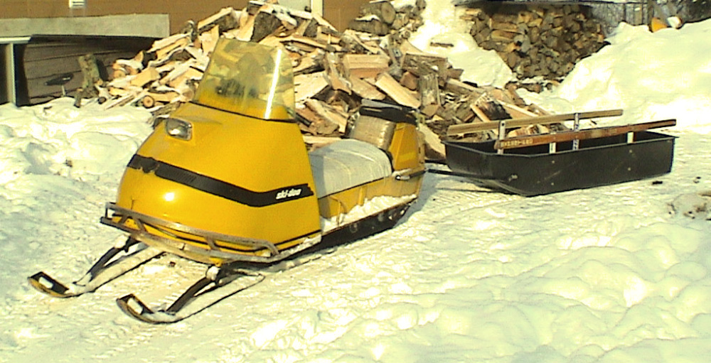1969 Skidoo with sled