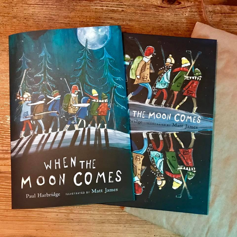 When The Moon Comes Cover - Matt James Illustration